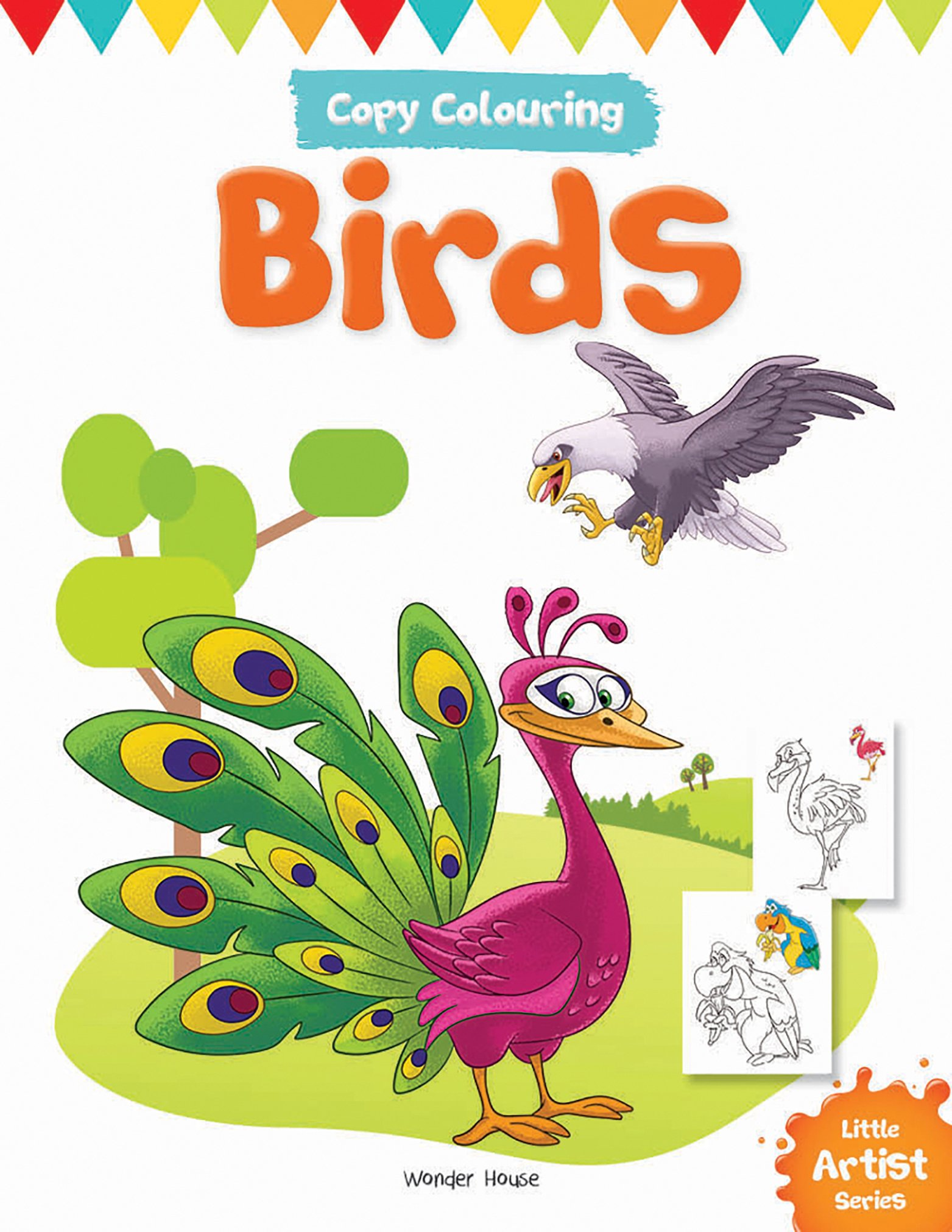 Little Artist Series - Birds : Copy Colouring Books