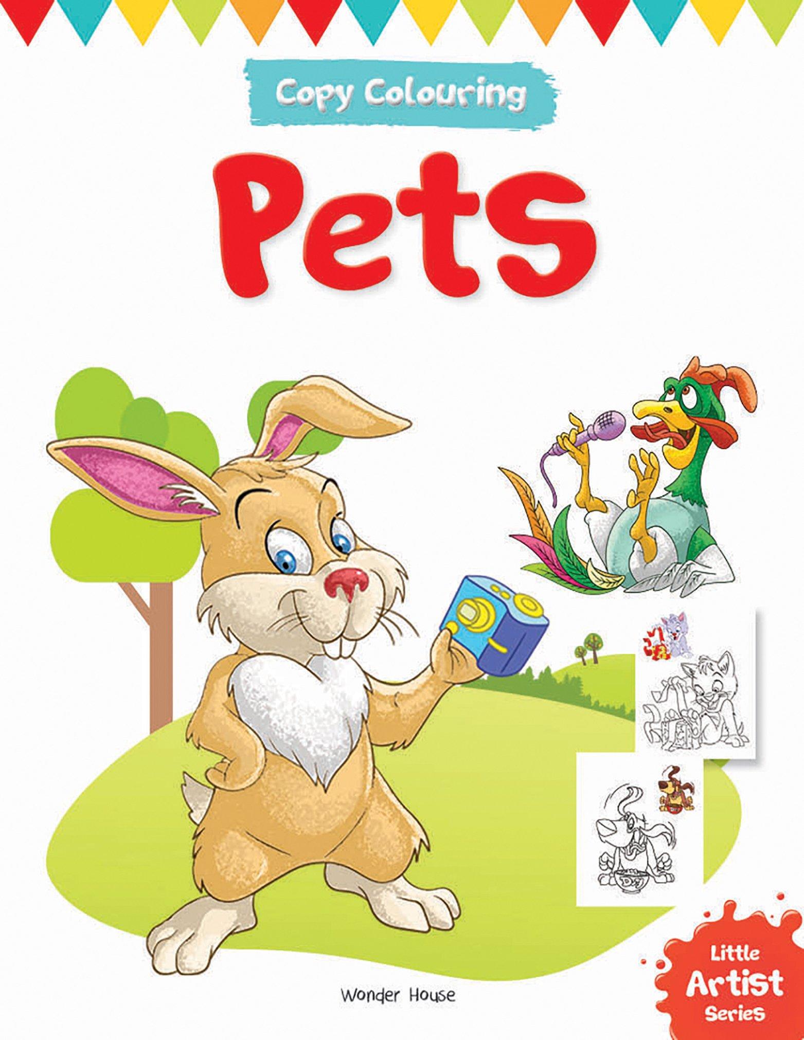Little Artist Series - Pets : Copy Colouring Books