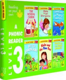 All Set to Read - Level 3 : PHONIC READER : READING ON YOUR OWN - 6 Books