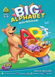 BIG ALPHABET WORKBOOK - Ages - 3-5, 320 Pages. Letter Recognition, Alphabetical Order, Beginning sounds and more!