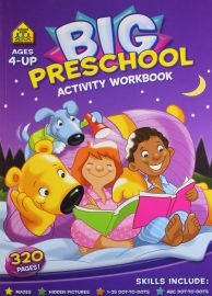 BIG PRESCHOOL ACTIVITY WORKBOOK- Ages 4-Up. 320 Pages. Mazes, Hidden Pictures, 1-25 Dot-to-Dots, ABC Dot-to-Dots!