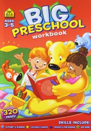 BIG PRESCHOOL WORKBOOK. Ages 3-5, 320 Pages! Alphabet and Numbers, Colours and Shapes, Phonics and Pre-Reading and more!