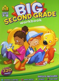 BIG SECOND GRADE WORKBOOK. Ages 7-8. 320 Pages. Reading & Writing, Basic Maths, Science, and More!