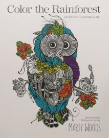COLOR THE RAINFOREST : An Exotic Colouring Book