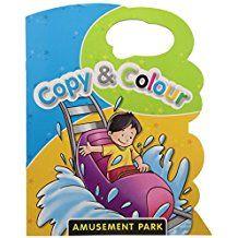AMUSEMENT PARK - COPY AND COLOUR- Die-Cut Colouring Book