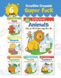 Creative Crayons Super Pack : My First Art Series - A Pack Of 6 Crayon Copy Colouring Books