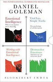 DANIEL GOLEMAN BOX SET - EMOTIONAL INTELLIGENCE -WORKING WITH EMOTIONAL INTELLIGENCE - VITAL LIES SIMPLE TRUTHS - DESTRUCTIVE EMOTIONS