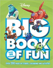 Disney BIG BOOK OF FUN over 200 page of stories, colouring and activities Over 50 Stickers