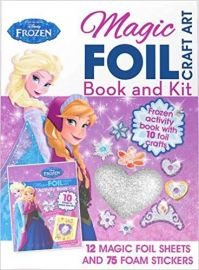 Disney Frozen MAGIC FOIL CRAFT ART activity Book 10 Things Make and Do!