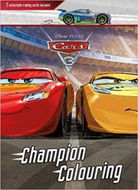 Disney Pixar CARS 3 CHAMPION COLOURING 2 collectable trading cards included