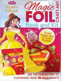 Disney Princess Beauty and the Beast MAGIC FOIL CRAFT ART activity Book 10 Things Make and Do!