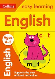 Collins Easy Learning: ENGLISH -Ages 4-5.  Supports the National Curriculum