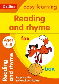 Collins Easy Learning: READING & RHYME -Ages 3-5.  Supports the National Curriculum.