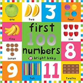 FIRST 100 NUMBERS - BRIGHT BABY - By Roger Priddy