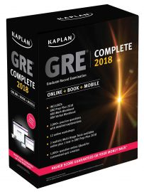 KAPLAN : GRE Complete 2018: The Ultimate in Comprehensive Self-Study for GRE