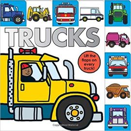 TRUCKS : LIFT-THE-FLAPS ON EVERY TRUCK! - By Roger Priddy