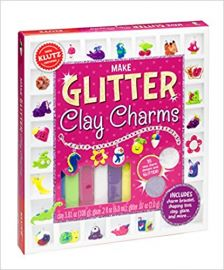 MAKE GLITTER CLAY CHARMS - 100% Klutz Certified (Box Set)