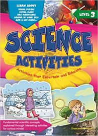 SCIENCE ACTIVITIES - Level 3 - Activities that entertain and educate. Fundamental scientific concepts explained through interesting activites for curious minds. Learn about Pearl Puzzle, Metal Maze, Fire Moutains, Colour of your sky and a lot more.